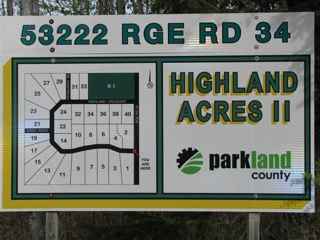 Main Photo: 17 53222 RGE RD 34 Road: Rural Parkland County Rural Land/Vacant Lot for sale : MLS(r) # E4051068