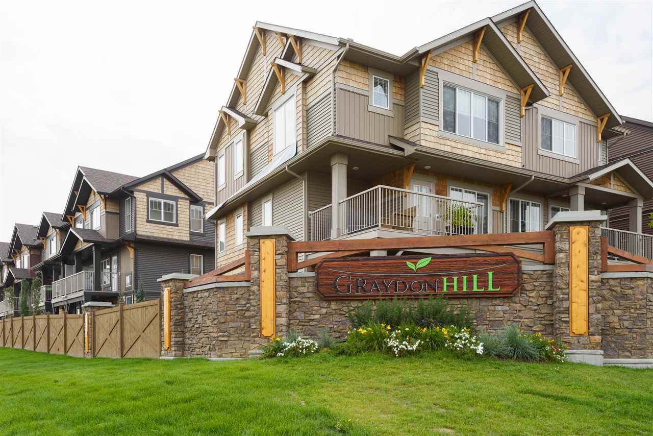 Main Photo: 48 1005 Graydon Hill Boulevard in Edmonton: Zone 55 Townhouse for sale : MLS® # E4078493