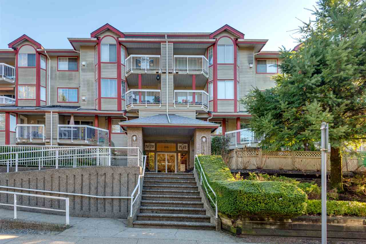 "Main Photo: 112 1215 PACIFIC Street in Coquitlam: North Coquitlam Condo for sale in ""PACIFIC PLACE"" : MLS® # R2137397"
