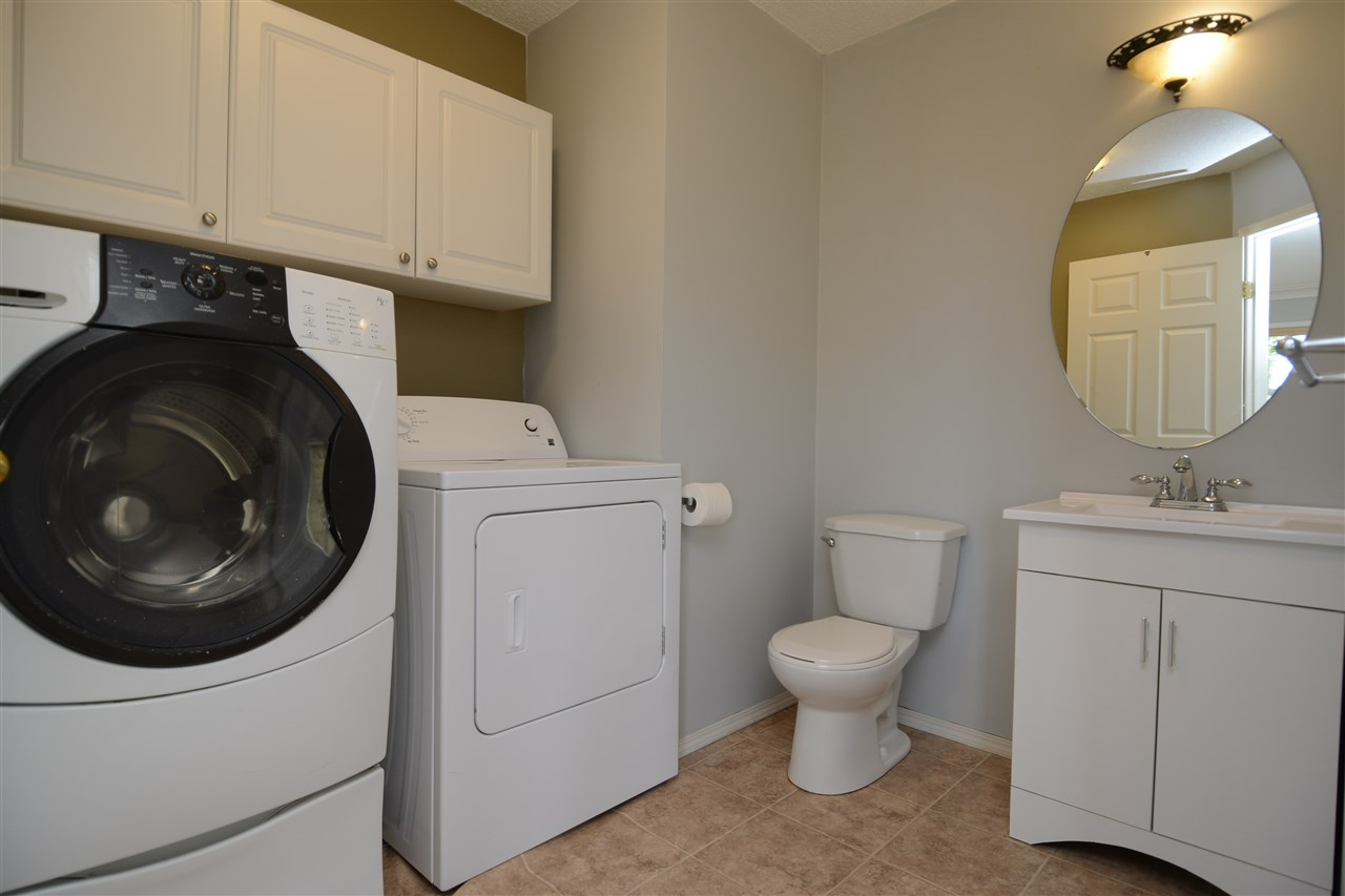 Laundry w/ half bath on main floor