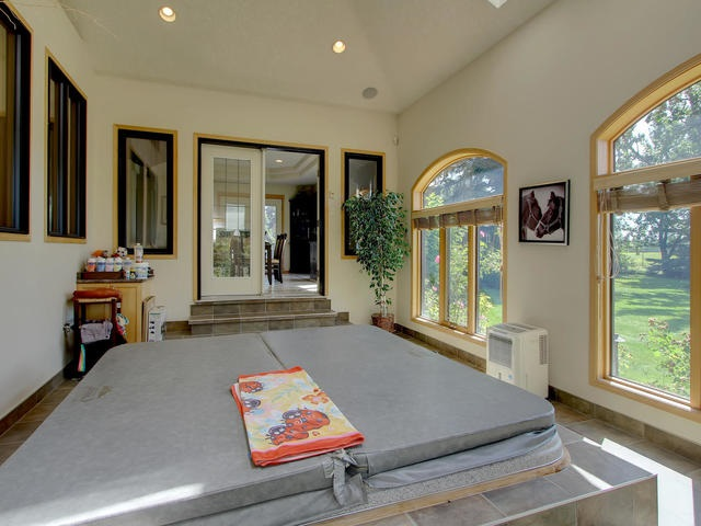 With French doors to the second patio area.