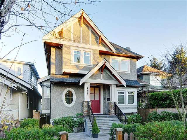 Main Photo: 4512 QUEBEC Street in Vancouver: Main House for sale (Vancouver East)  : MLS®# V1036388