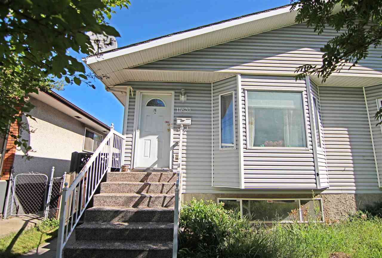 Main Photo: 11620 129 Avenue in Edmonton: Zone 01 House Half Duplex for sale : MLS® # E4072994
