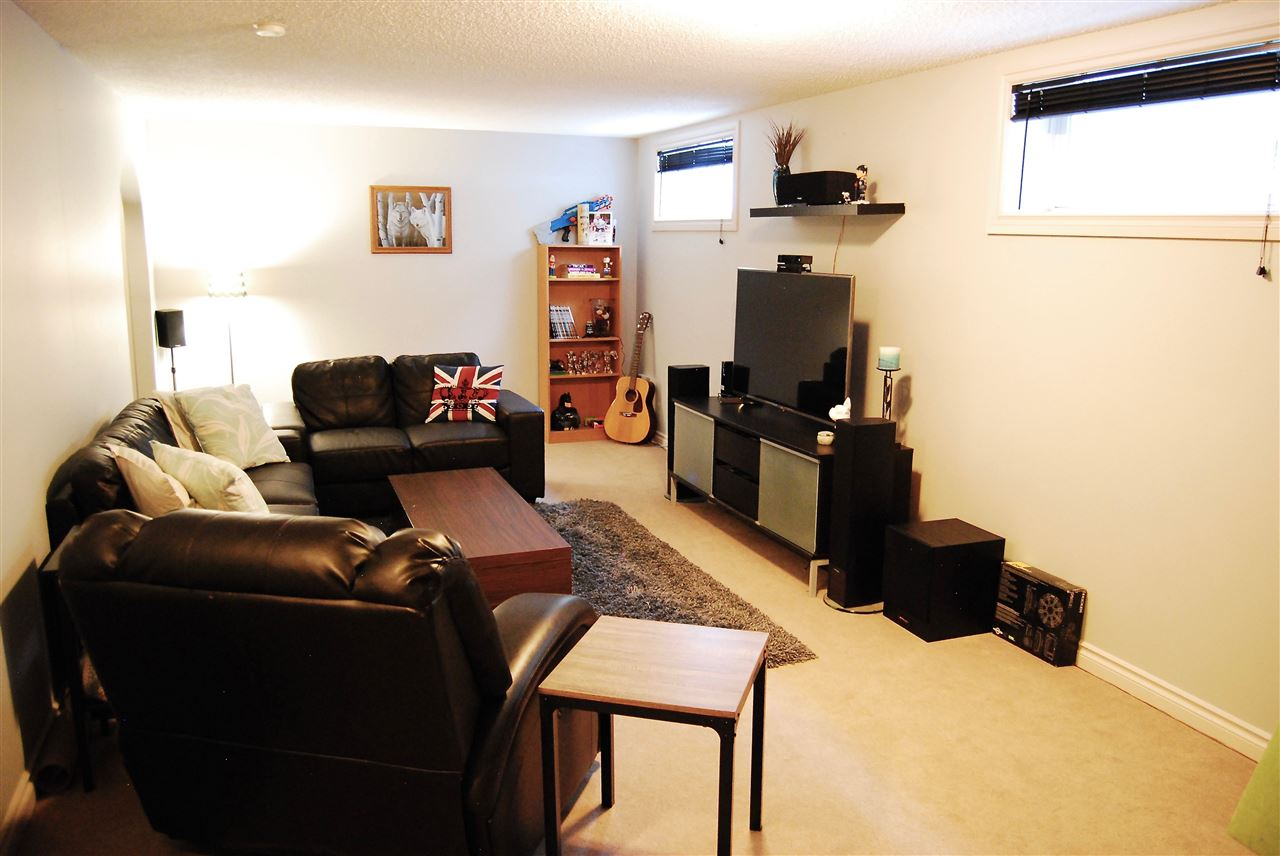 Basement living room, with lots of space for TV and games