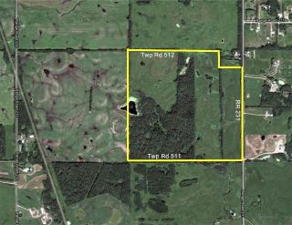 Main Photo: RR 231 TWP 512: Rural Strathcona County Rural Land/Vacant Lot for sale : MLS®# E4098164