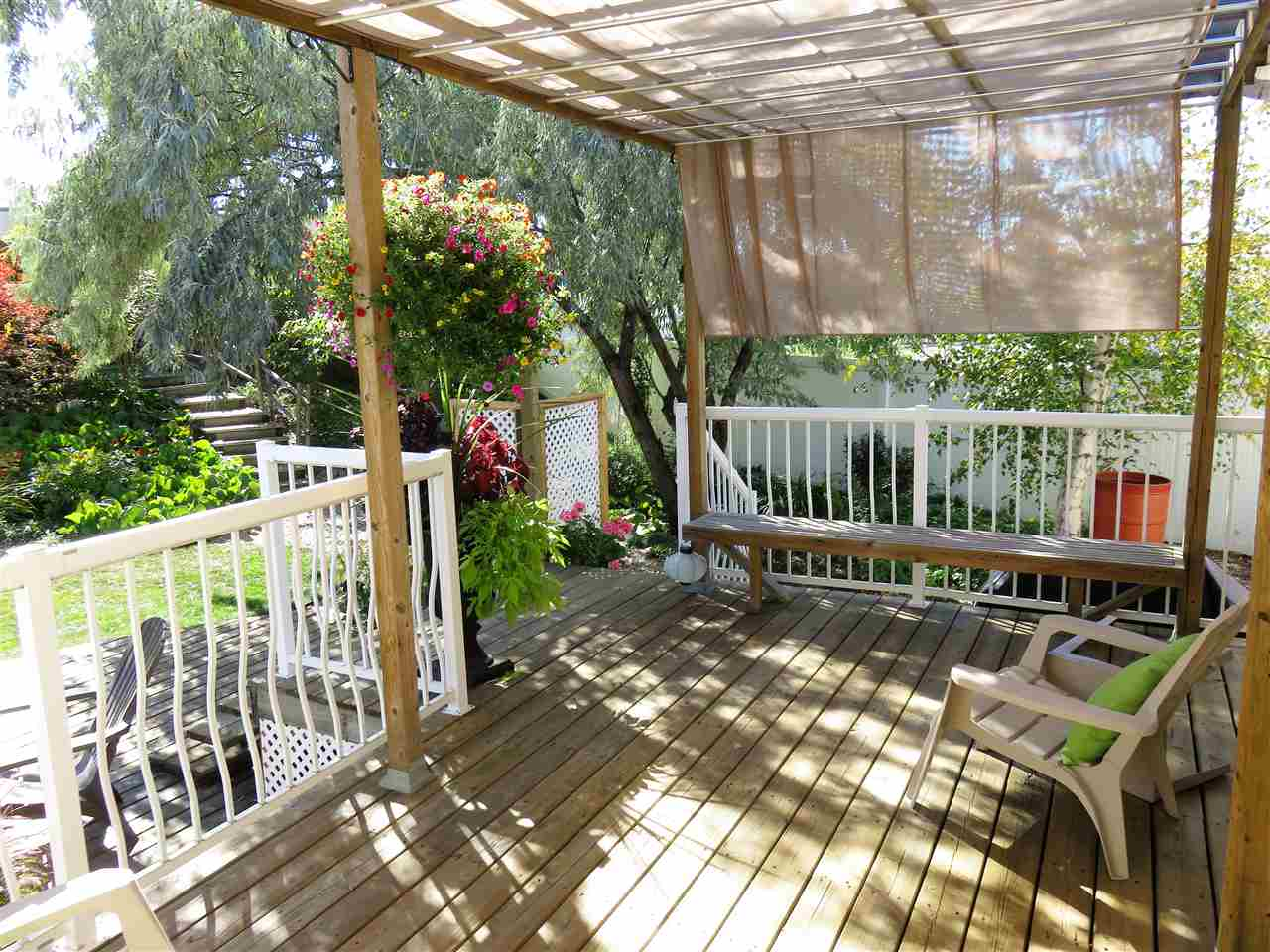 View of the Beautiful Covered Deck! :)