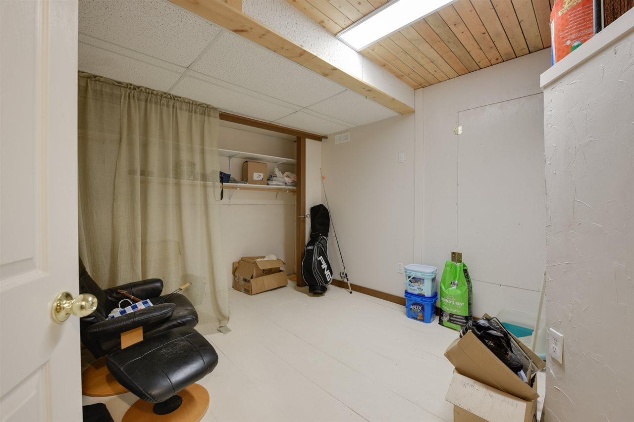 Partially finished basement that offers loads of storage plus optional space for a den or quiet space
