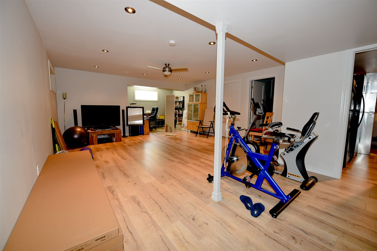 This huge space can be utilized any way you wish.  Set up some exercise machines and get fit or gather around the TV as a family to watch sports.  The possibilities are endless.