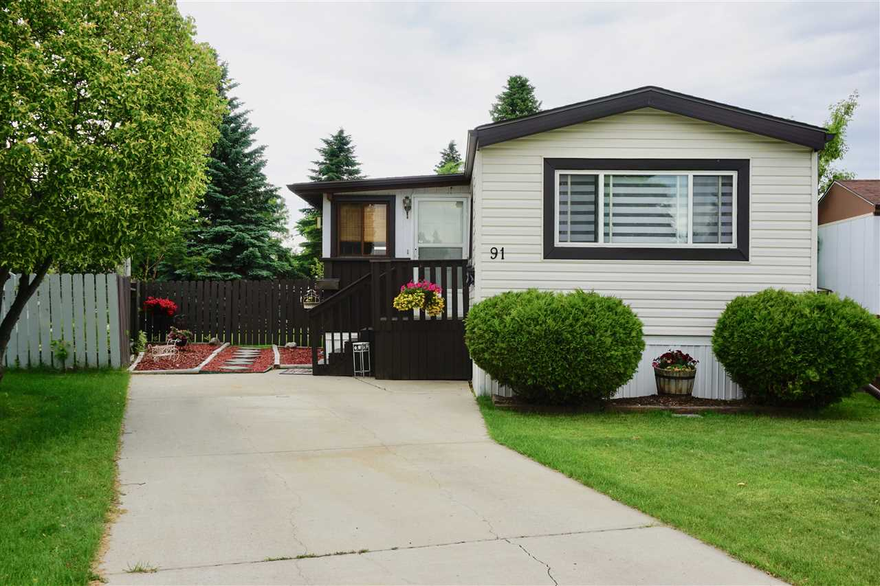 Main Photo: #91 12604 153 Avenue in Edmonton: Zone 27 Mobile for sale : MLS(r) # E4069150