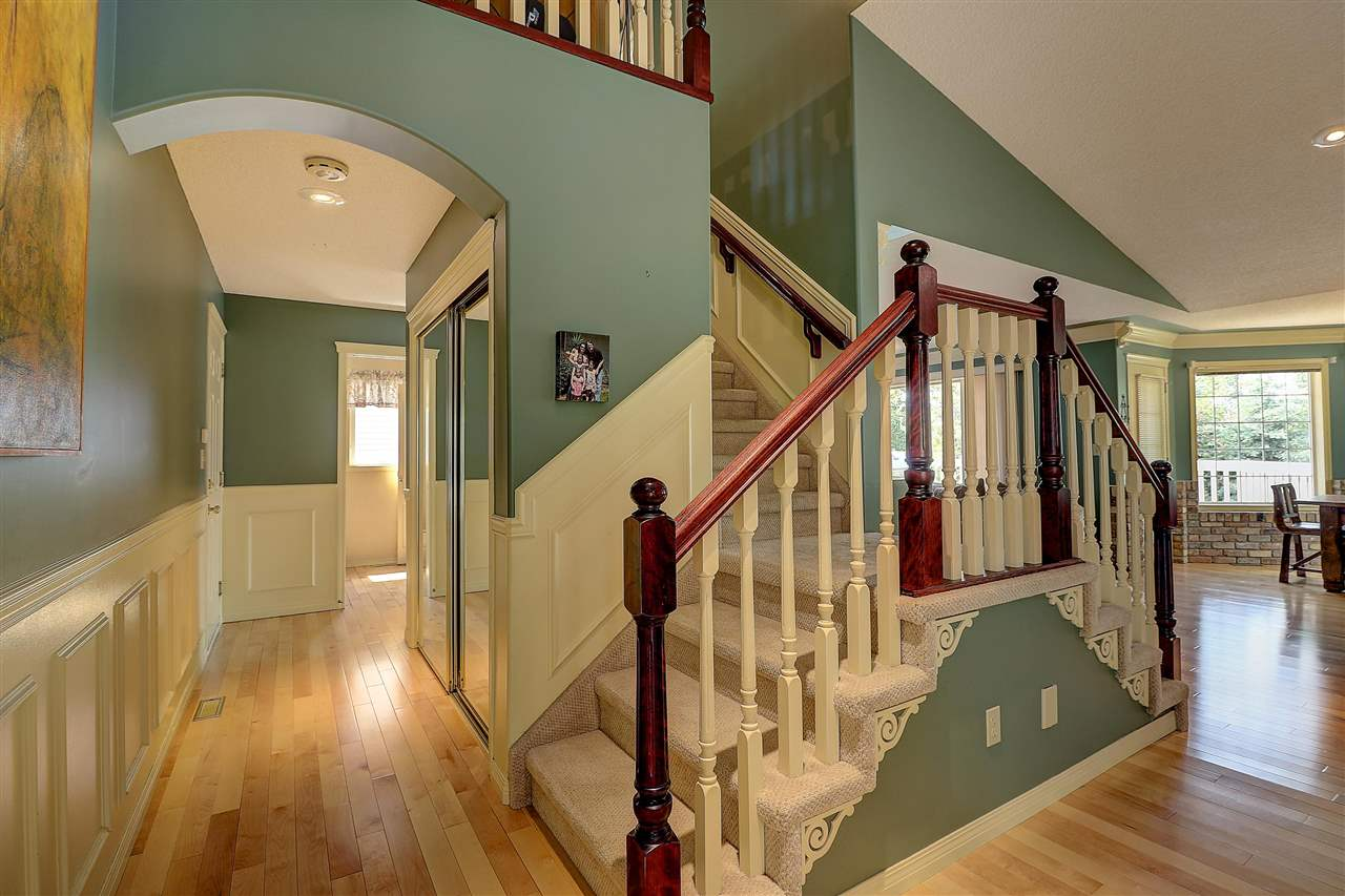 From the wainscoting to the elegant double sided staircase, the finishing touches stand out.