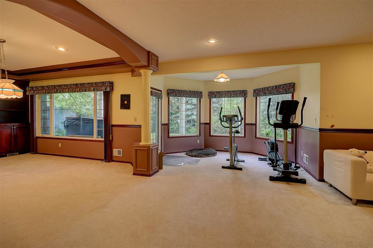 Huge recreation room in basement.