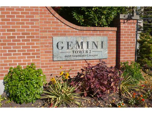 "Main Photo: 601 6659 SOUTHOAKS Crescent in Burnaby: Highgate Condo for sale in ""Gemini II"" (Burnaby South)  : MLS(r) # V1035373"