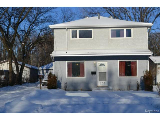 Main Photo: 233 Worthington Avenue in WINNIPEG: St Vital Residential for sale (South East Winnipeg)  : MLS® # 1500728