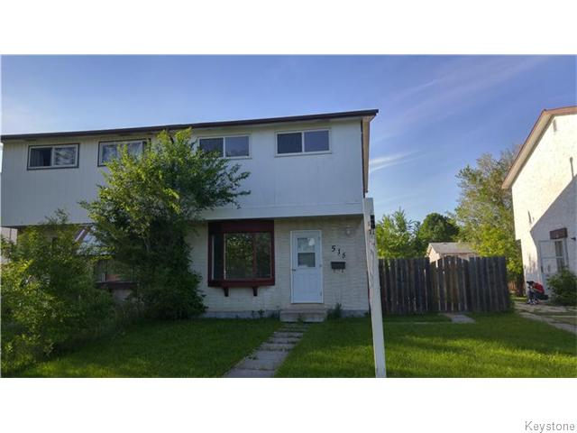 Main Photo: 515 Adsum Drive in Winnipeg: Maples / Tyndall Park Residential for sale (North West Winnipeg)  : MLS® # 1609057