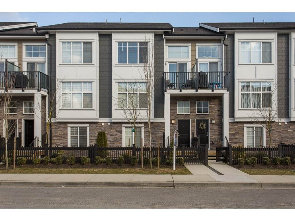 "Main Photo: 77 7686 209 Street in Langley: Willoughby Heights Townhouse for sale in ""KEATON"" : MLS® # R2140997"