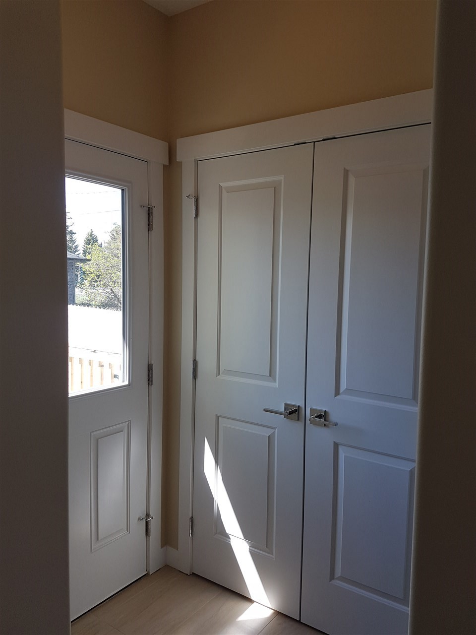 rear door and closet