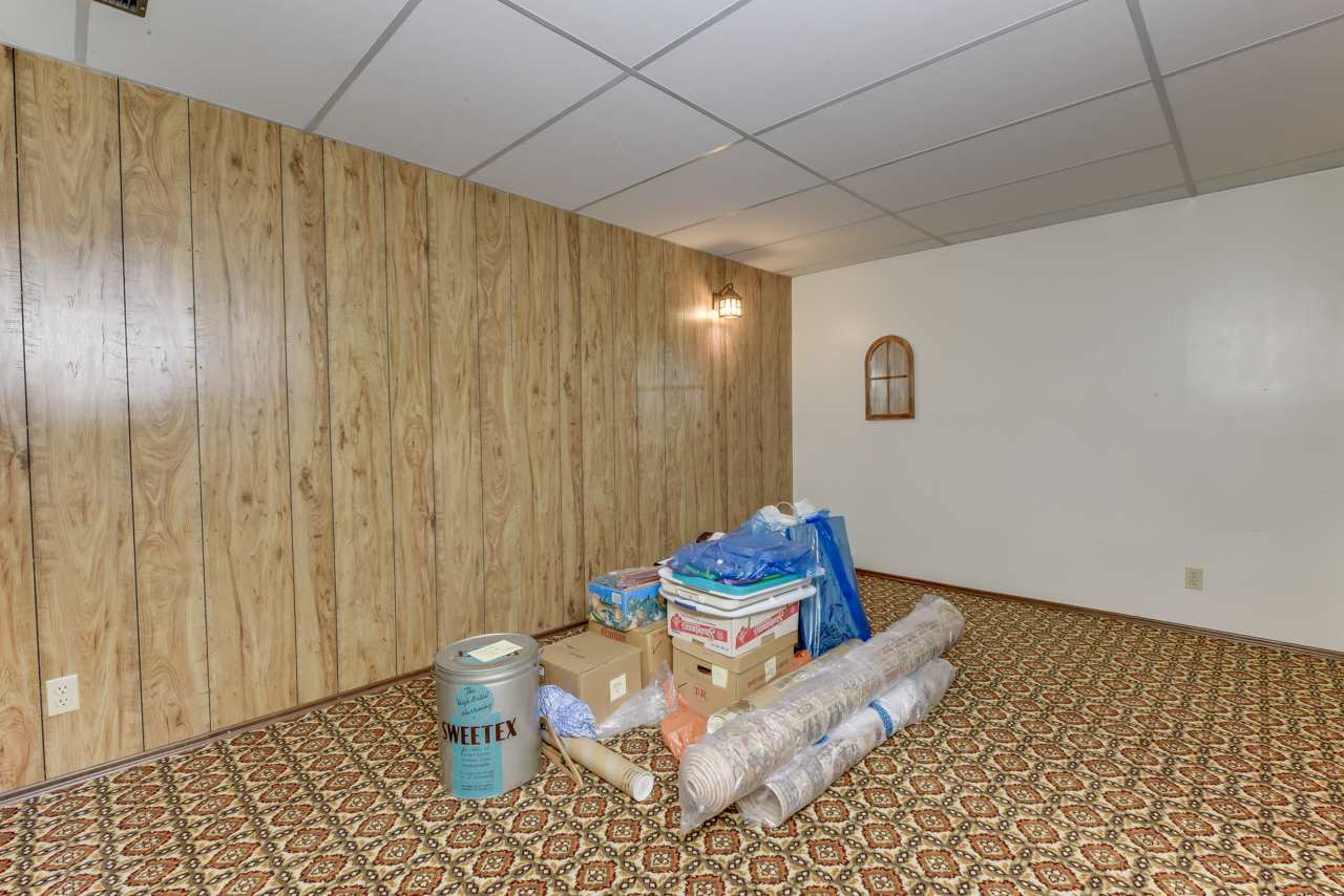 Basement family room, could be easily set up as a perfect media room.