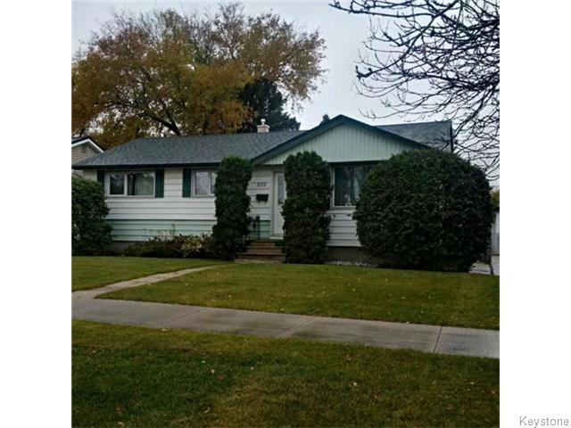 Main Photo: 876 Knox Street in WINNIPEG: Westwood / Crestview Residential for sale (West Winnipeg)  : MLS(r) # 1529794