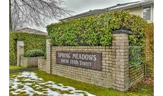 "Main Photo: 10 10038 155 Street in Surrey: Guildford Townhouse for sale in ""Spring Meadows"" (North Surrey)  : MLS® # R2199038"