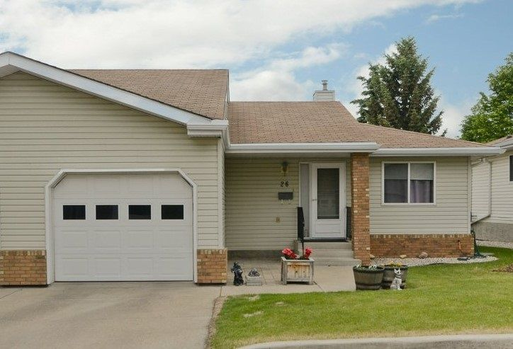 Main Photo: 26 903 109 Street in Edmonton: Zone 16 House Half Duplex for sale : MLS®# E4115661