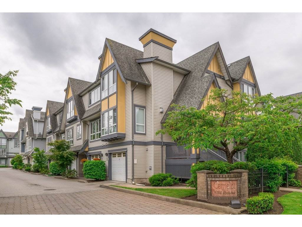 "Main Photo: 63 16388 85 Avenue in Surrey: Fleetwood Tynehead Townhouse for sale in ""CAMELOT"" : MLS(r) # R2176238"