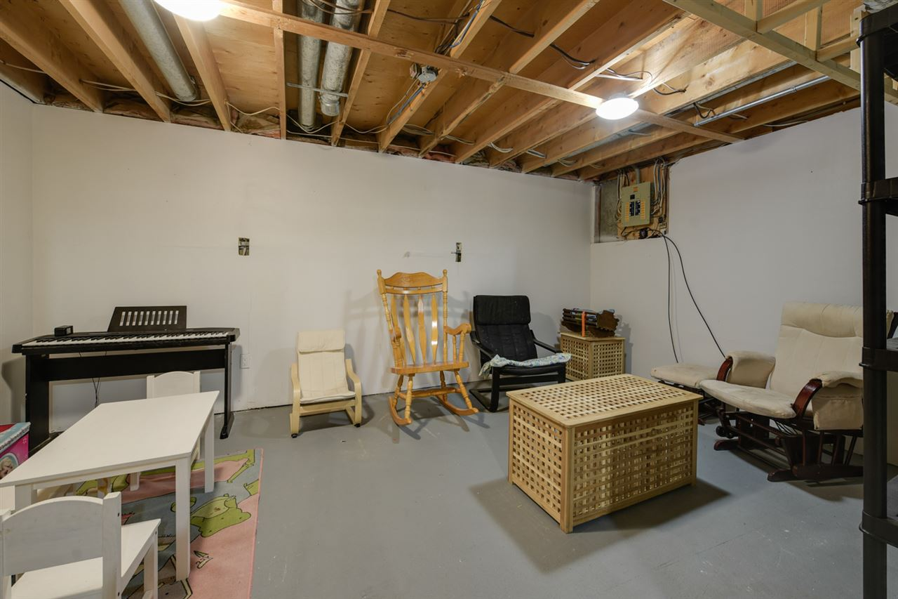 The basement is partially finished and is the perfect space for a rec area. Plenty of additional storage space.