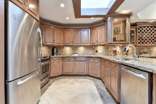 Fabulously updated open kitchen.