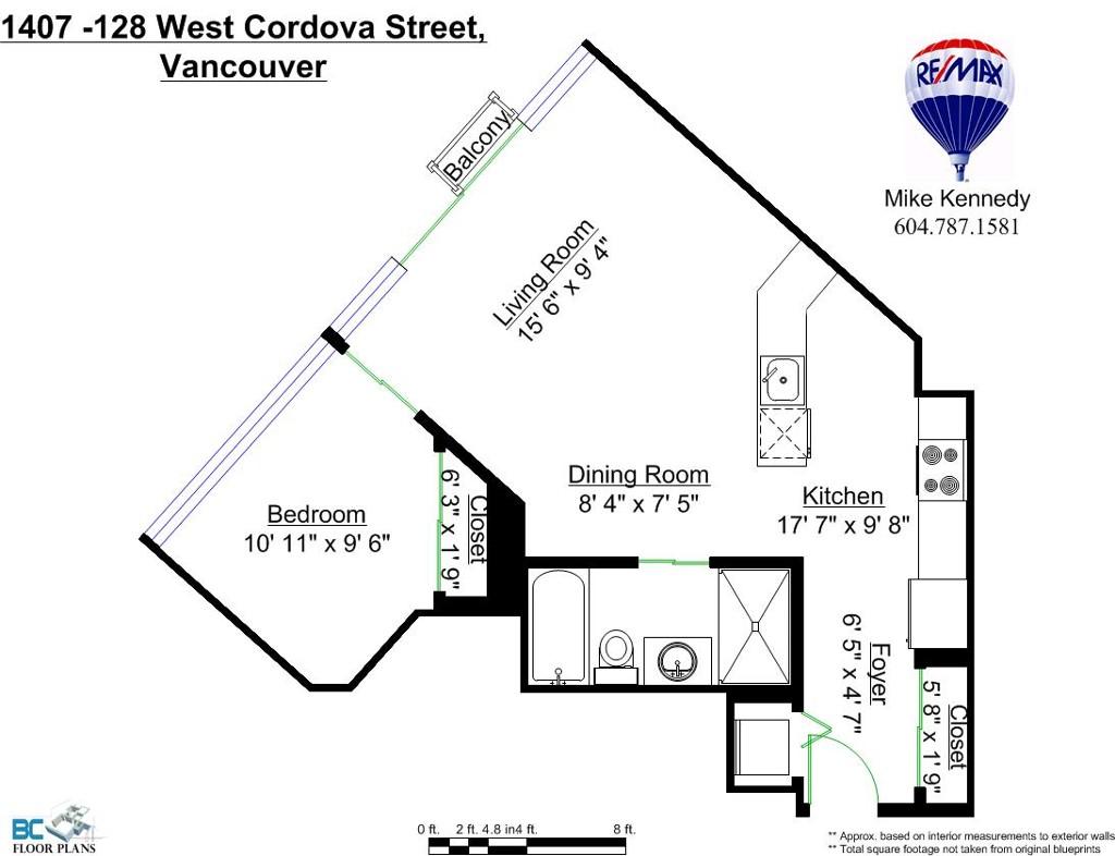 Floor plans: 1407 128 W CORDOVA Street in Vancouver