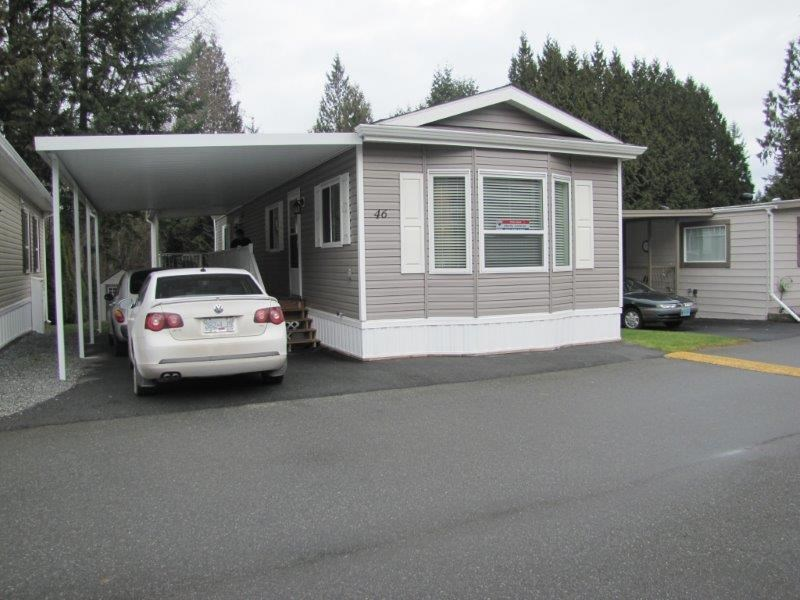 "Main Photo: 46 24330 FRASER Highway in Langley: Otter District Manufactured Home for sale in ""Langley Grove Estates"" : MLS®# R2026112"