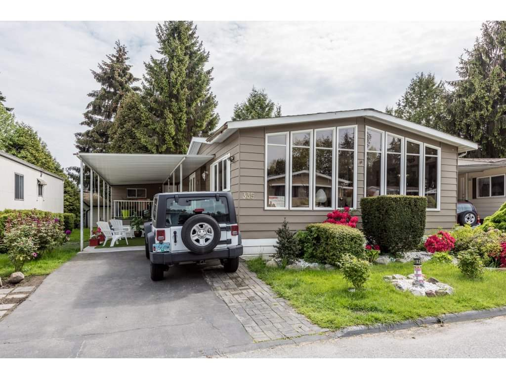Main Photo: 335 1840 160TH STREET in Surrey: King George Corridor Manufactured Home for sale (South Surrey White Rock)  : MLS(r) # R2167828