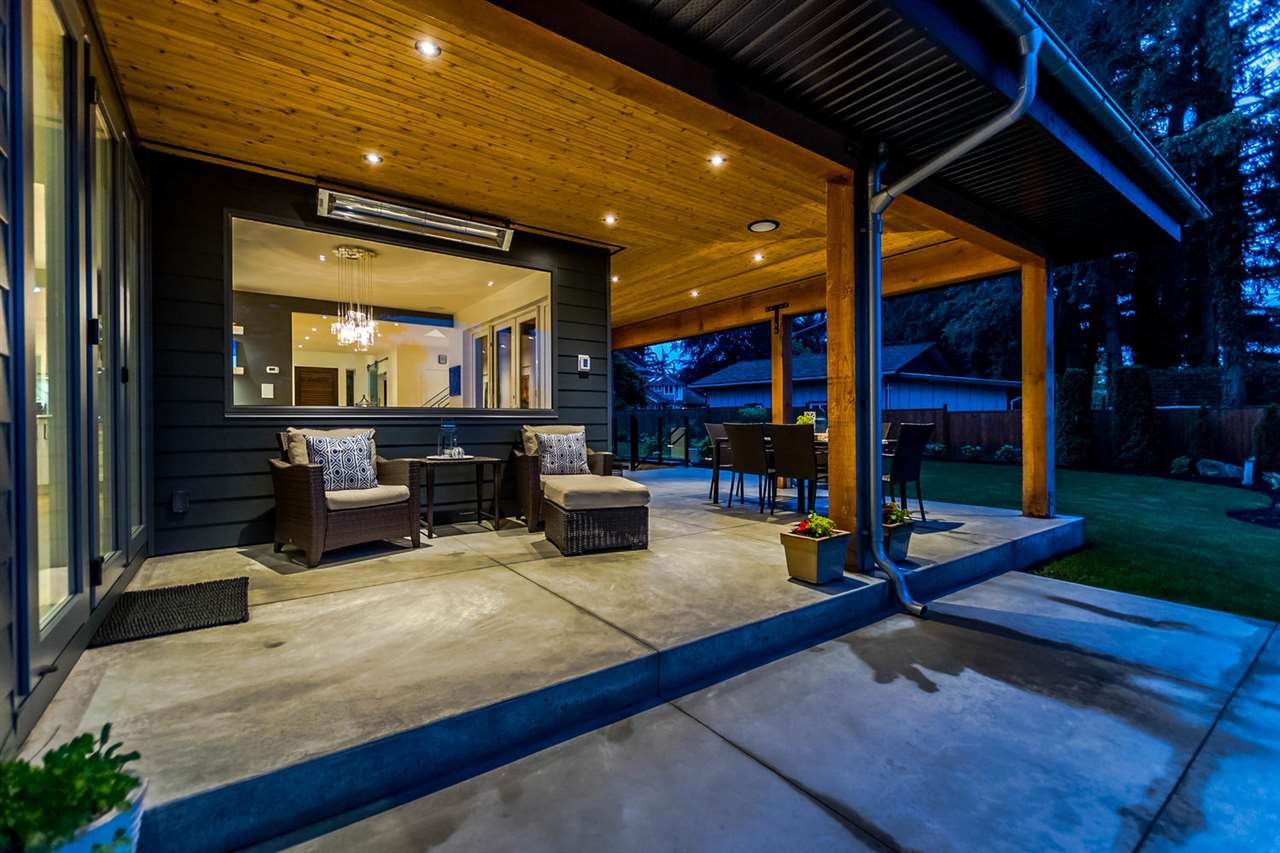 Heated patio opens to living room