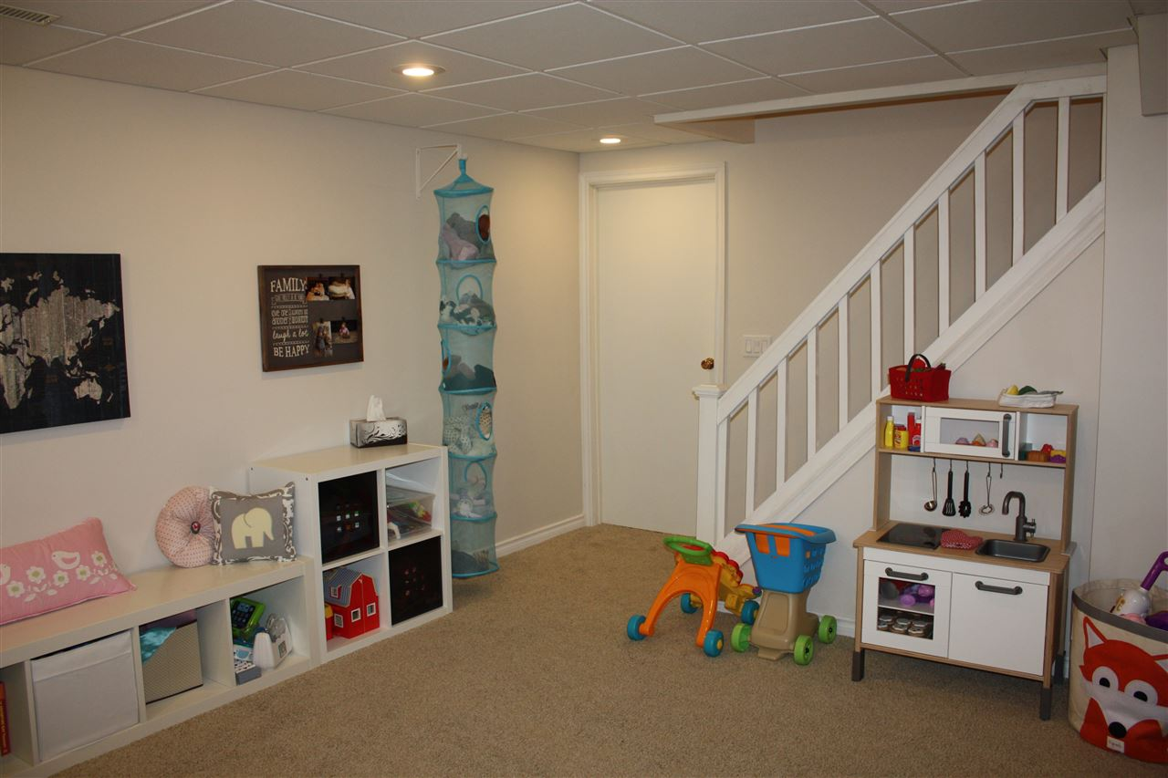 The basement was completely re-developed with a spacious playroom / office.