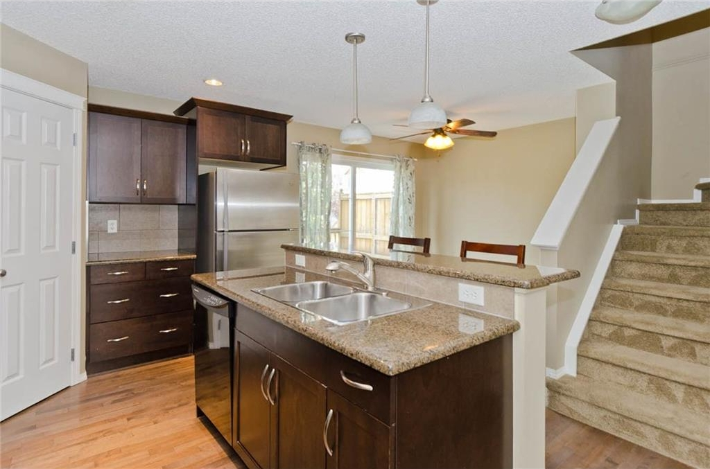 Kitchen: Ample countertop space and plenty of cabinets for all of your culinary supplies