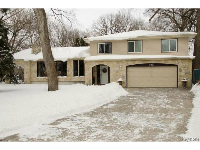 Photo 1: 103 Shier Drive in WINNIPEG: Charleswood Residential for sale (South Winnipeg)  : MLS(r) # 1326228