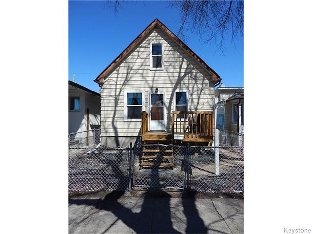 Main Photo: 815 Boyd Avenue in Winnipeg: North End Residential for sale (North West Winnipeg)  : MLS® # 1609014