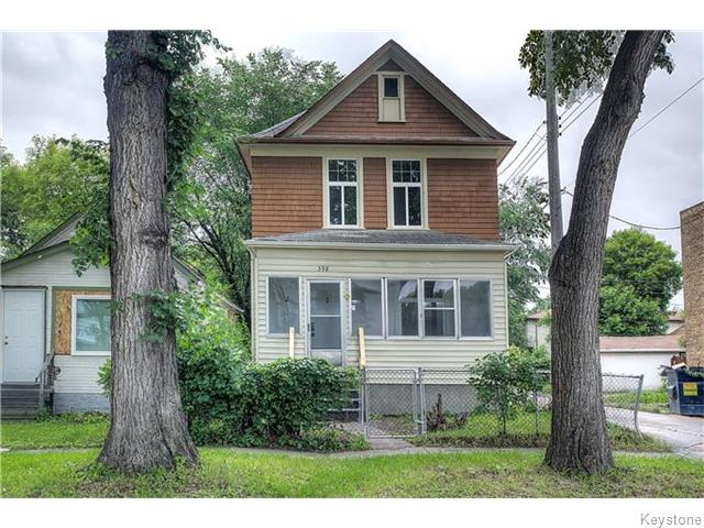 Main Photo: 398 Anderson Avenue in Winnipeg: North End Residential for sale (North West Winnipeg)  : MLS® # 1613744