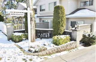 "Main Photo: 45 16016 82 Avenue in Surrey: Fleetwood Tynehead Townhouse for sale in ""MAPLE COURT"" : MLS® # R2241740"
