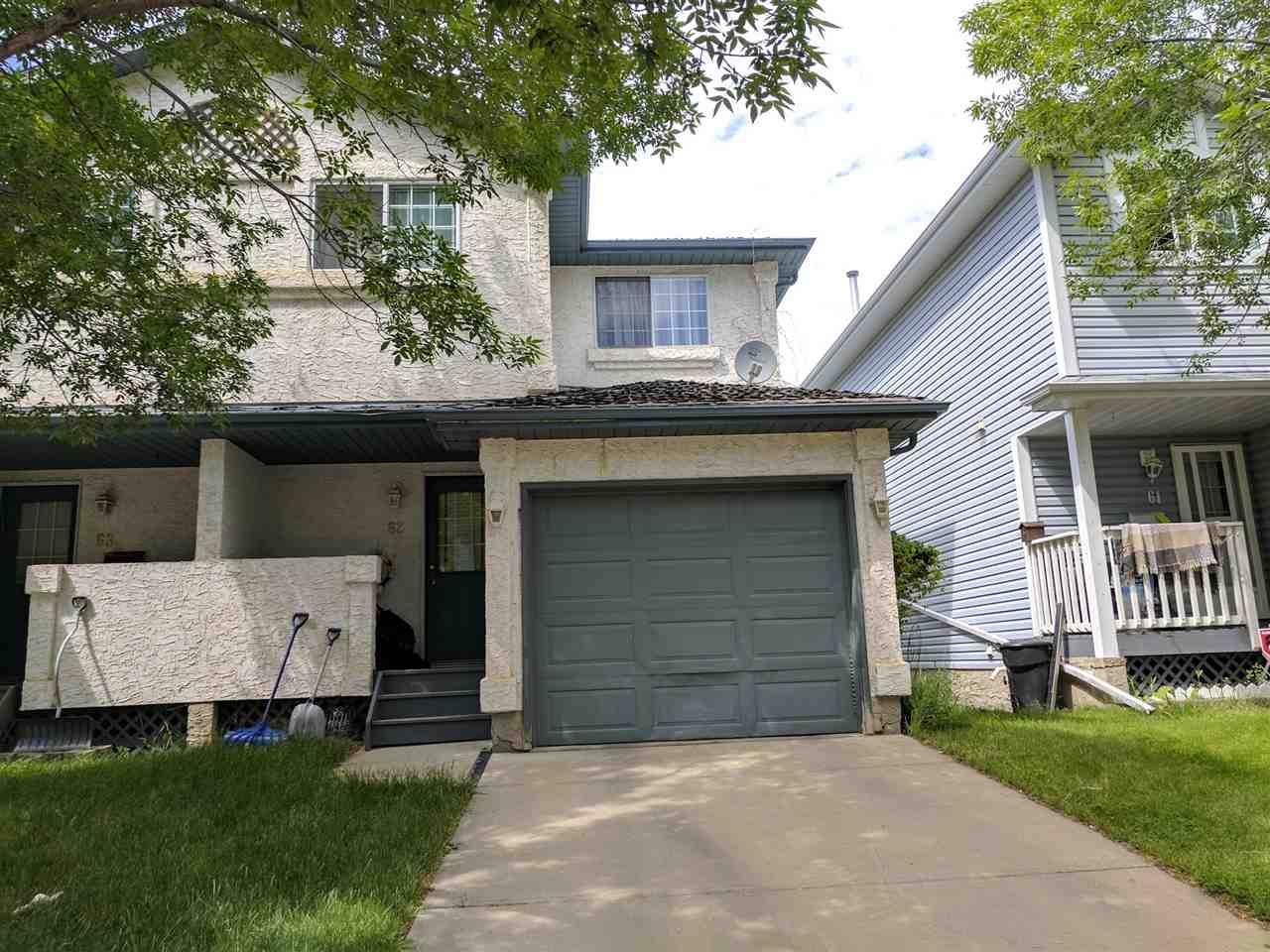 Main Photo: 62 501 Youville Drive E in Edmonton: Zone 29 House Half Duplex for sale : MLS® # E4072117