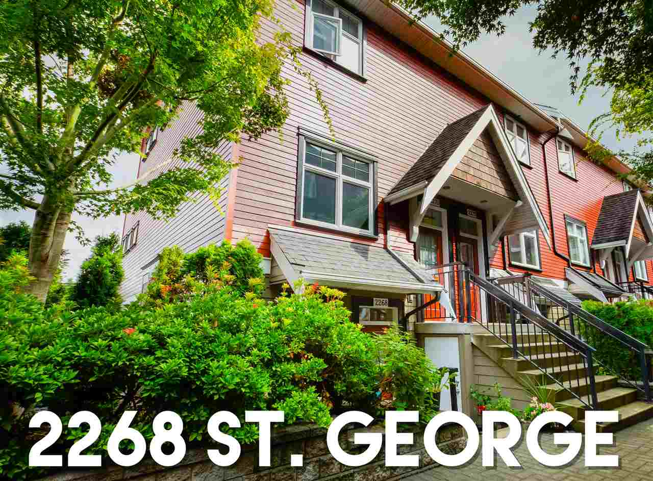 "Main Photo: 2268 ST. GEORGE Street in Vancouver: Mount Pleasant VE Townhouse for sale in ""The Vantage"" (Vancouver East)  : MLS®# R2305186"