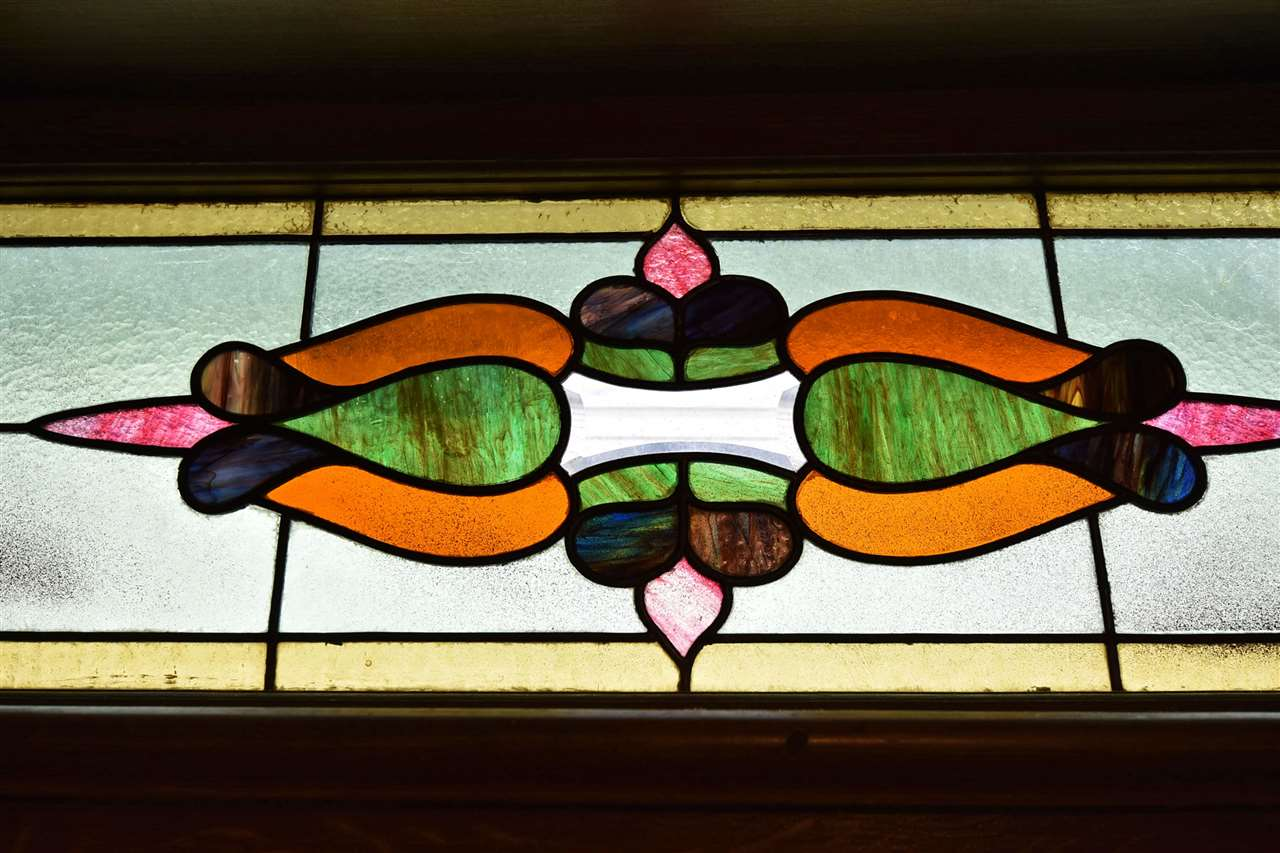 Close up of stained glass window!