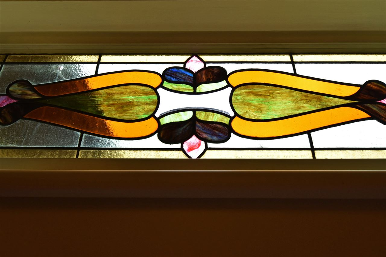 Close-up of stained glass!