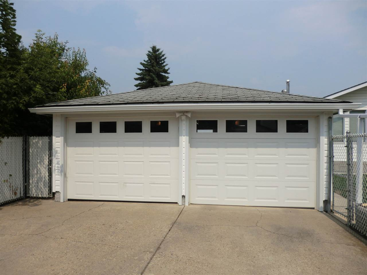 Double Garage with double doors.