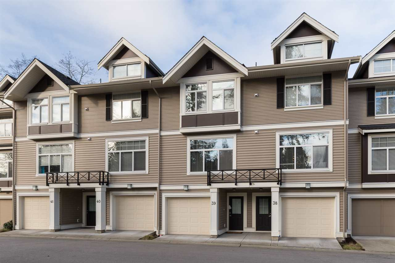 "Main Photo: 39 14377 60TH Avenue in Surrey: Sullivan Station Townhouse for sale in ""BLUME"" : MLS®# R2028442"