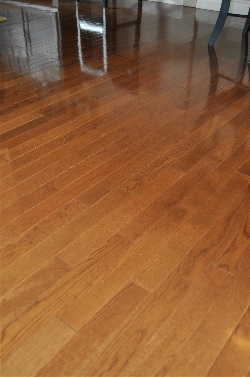 A look at the hardwood flooring that unifies the entire main floor