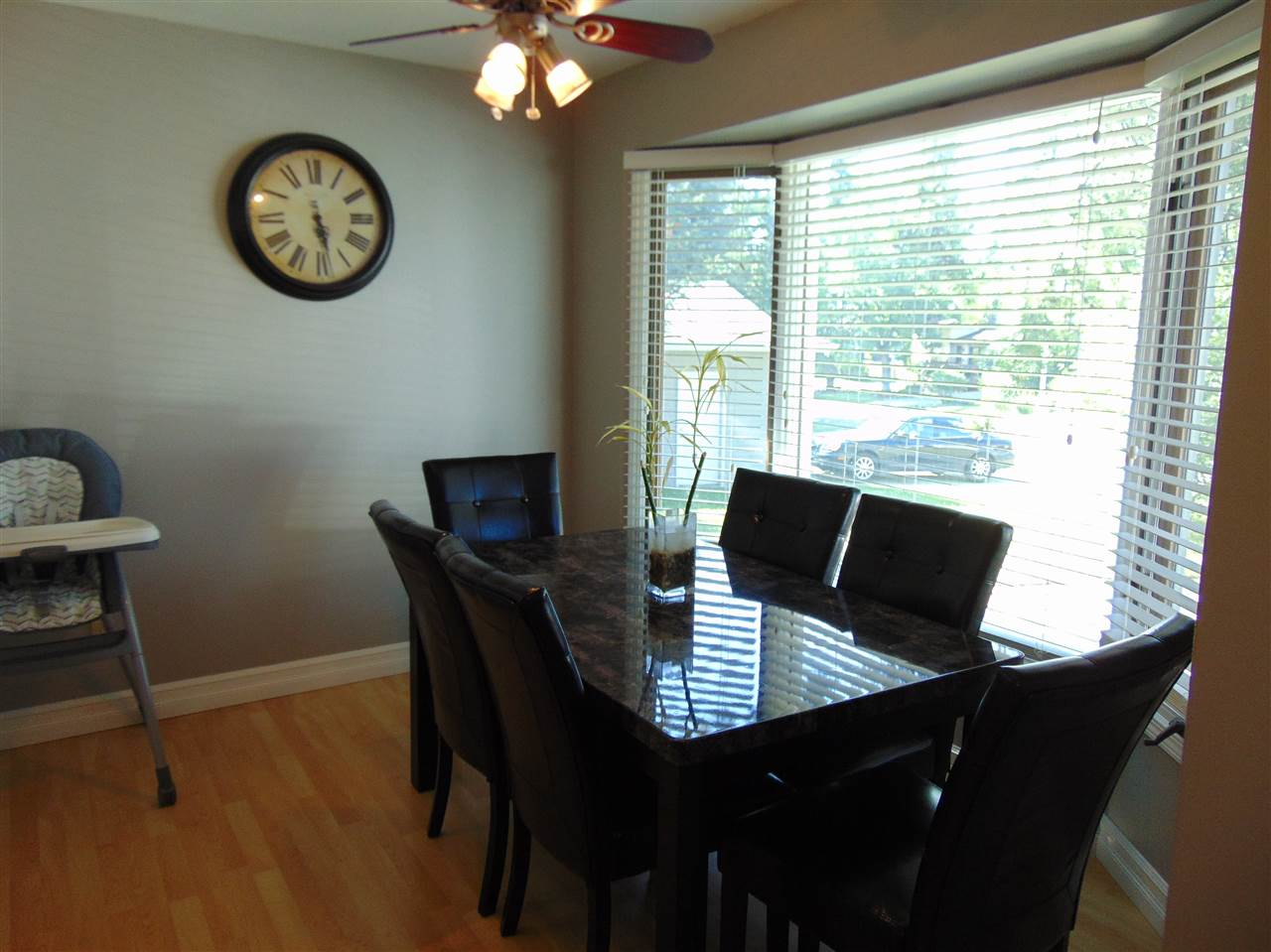 dining area just off of kitchen with lots of NATURAL LIGHT with large windows