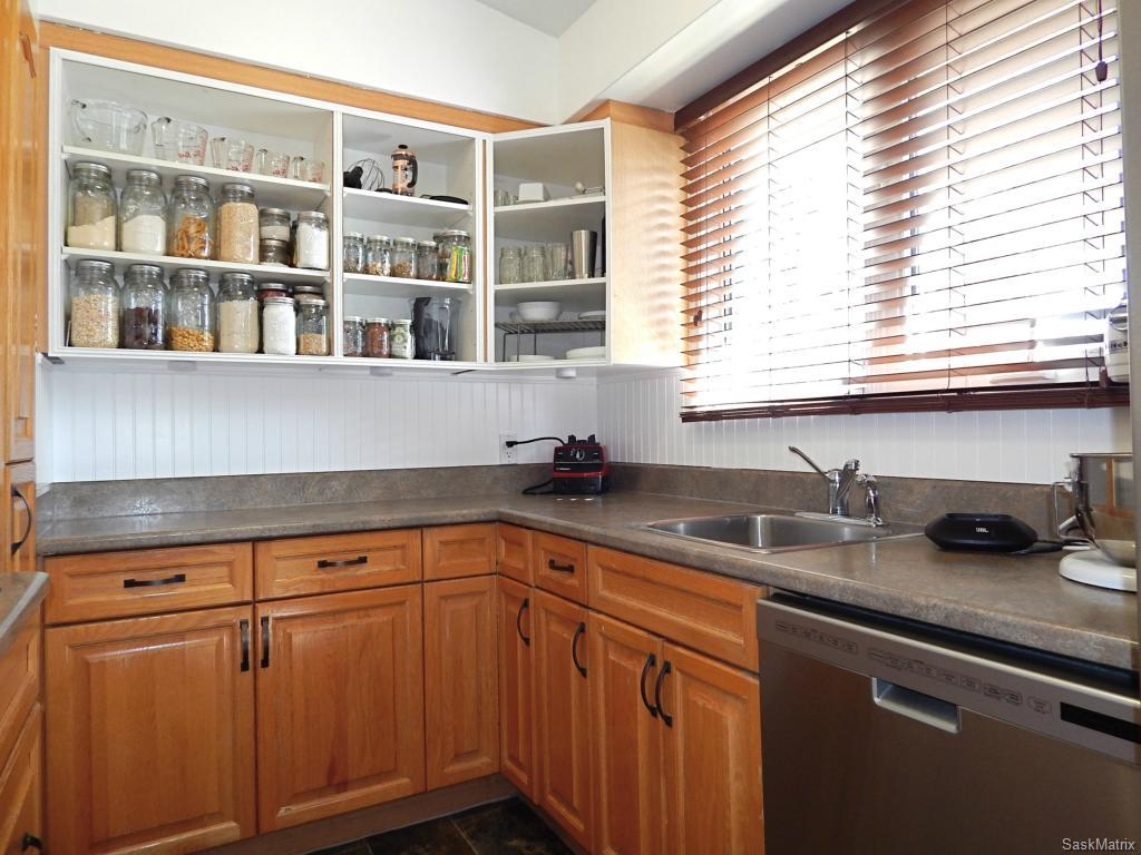 Ample counter space and open shelving perfect for organization