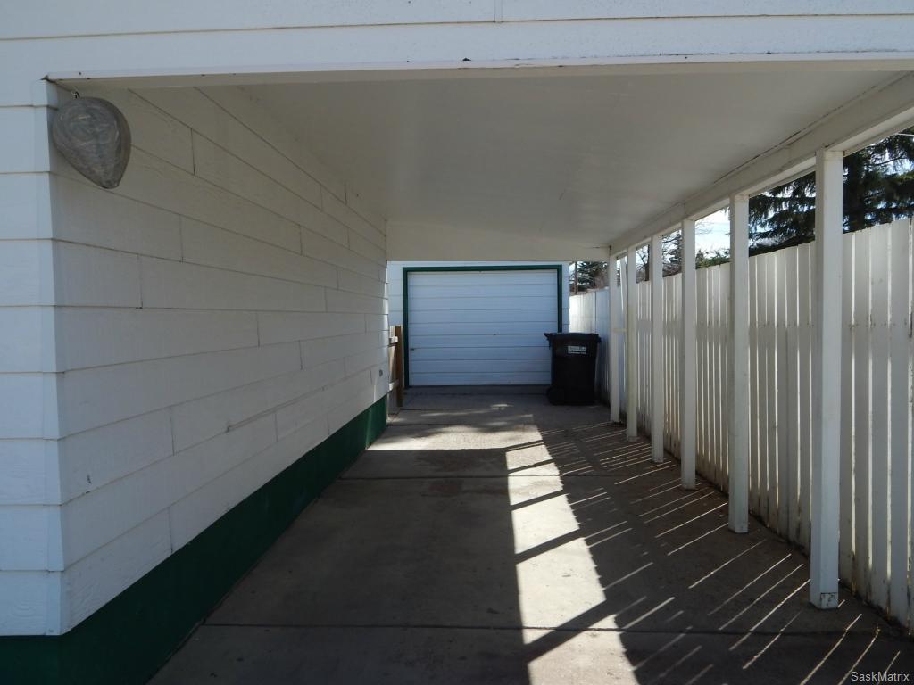 Carport and detached garage