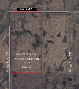 Main Photo: 55055 RR 220: Rural Strathcona County Rural Land/Vacant Lot for sale : MLS(r) # E4068909