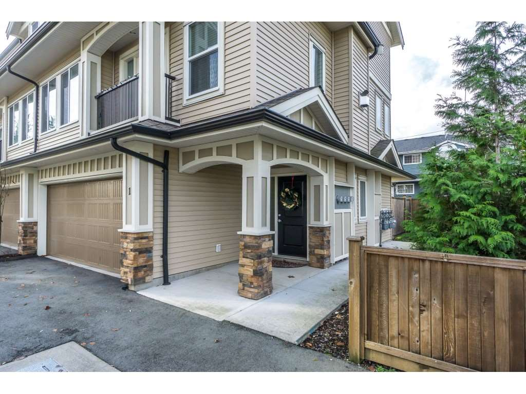 "Main Photo: 1 27234 30 Avenue in Langley: Aldergrove Langley Townhouse for sale in ""Mint Boutique Townhomes"" : MLS®# R2226277"