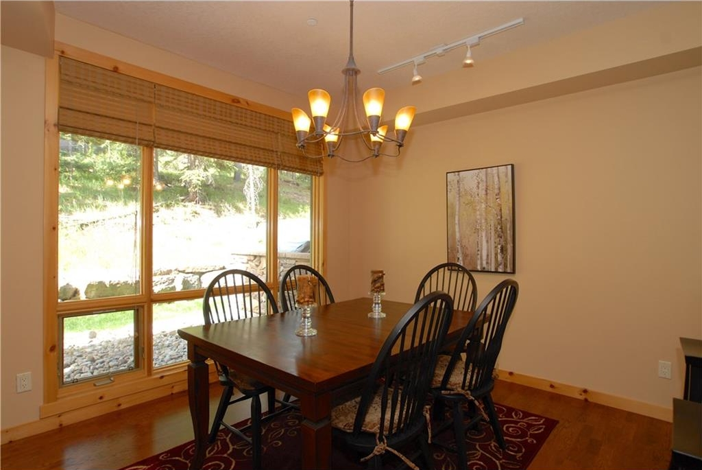 Spacious dining area with picture window